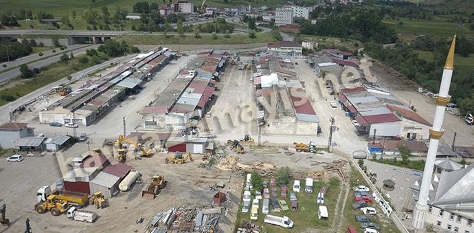 Havza'da Sanayi Sitesinde Altyapı Ve Yol Çalışması Başladı
