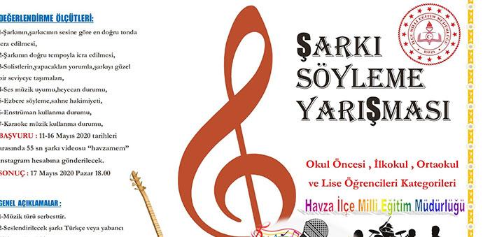 Havza'da Şarkı Söyleme Yarışması Düzenlendi