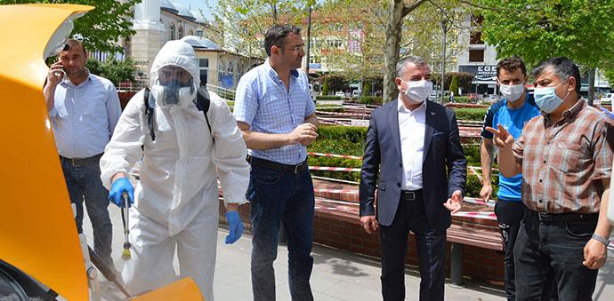 Havza'da Taksi Ve Taksi Durakları Dezenfekte Edildi
