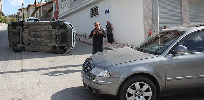 Havza'da Trafik Kazası 1 Yaralı