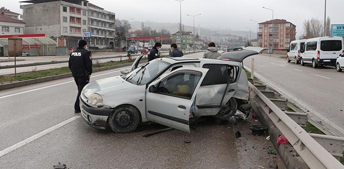 Havza'da Trafik Kazası 2 Yaralı
