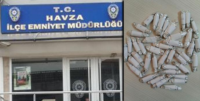 Havza'da Uyuşturucu Ticaretine Polis Baskını