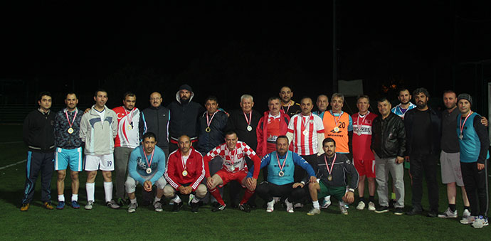 Havza'da Veteranlar Futbol Maçı Yapıldı