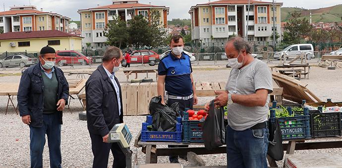 Havza'da Zabıta Ekipleri Pazar Yerini Denetledi