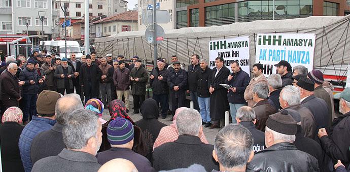 Havza'dan İdlip'e 2 Tır Yardım Toplantı