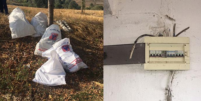 Hırsızlar Elektrik Tellerini Çaldılar