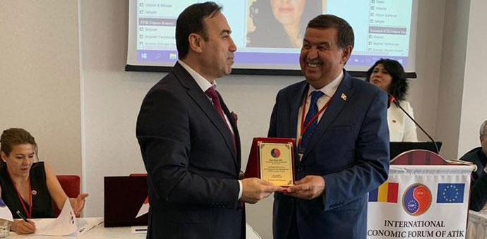 İkiz, Bükreş'te Düzenlenen Ekonomik Forum Anlaşmasına Katıldı