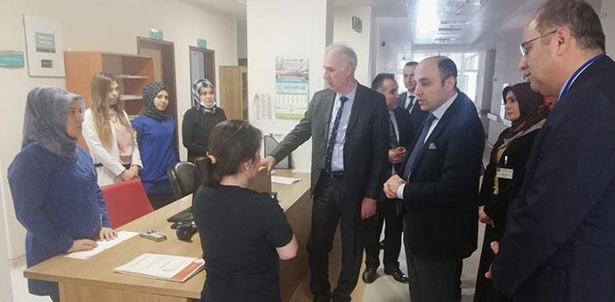 İl Sağlık Müdürü Oruç'tan Havza Devlet Hastanesine Taziye Ziyareti