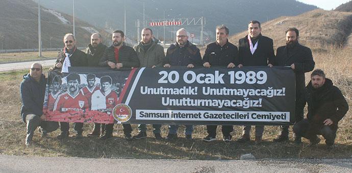 İnternet Gazetecileri Samsunsporlu Futbolcuları Unutmadı