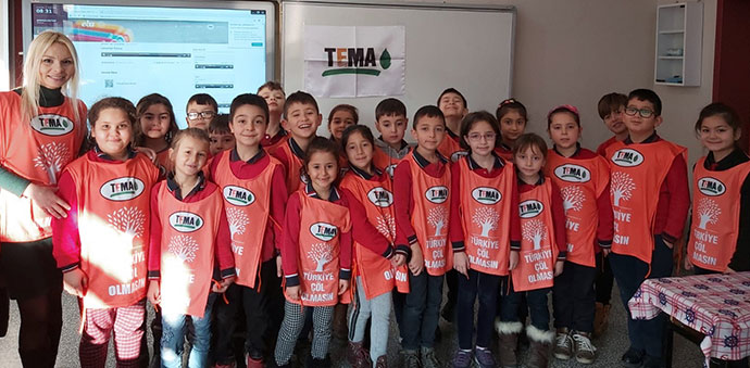 İstiklal İlkokulu'nda Yavru TEMA Çalışması Yapıldı