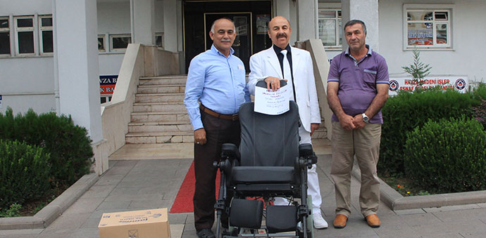 Karadeniz Omurilik Felçlileri Derneğinden Tekerlekli Sandalye Yardımı