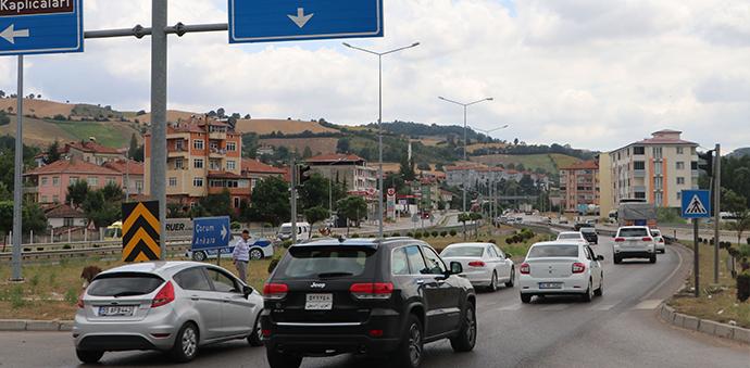 Karadeniz'in Giriş Kapısı Havza'da Trafik Durma Noktasına Geldi
