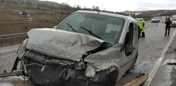 Kavak Yolunda Trafik Kazası 1 Ölü