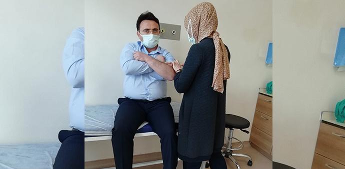 Kaymakam Yılmaz Kovid-19 Aşısını Oldu