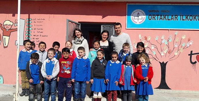 Köy Okulları Değişim Ağı Ortaklar İlkokulunda