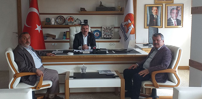 Mecit Erdoğan'dan Başkan Özdemir'e Ziyaret