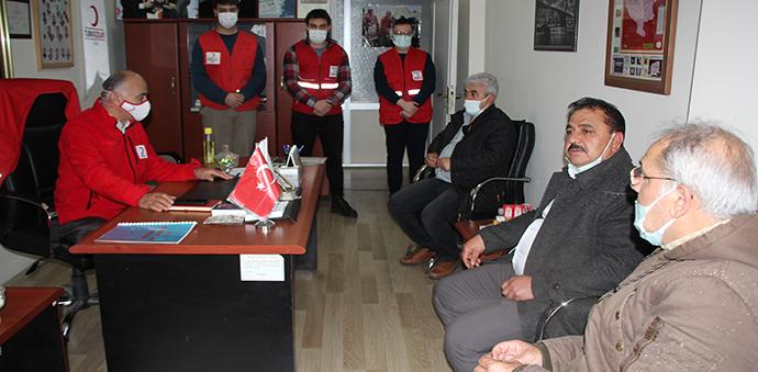 MHP İlçe Teşkilatından Havza Kızılay Temsilciliğine Ziyaret