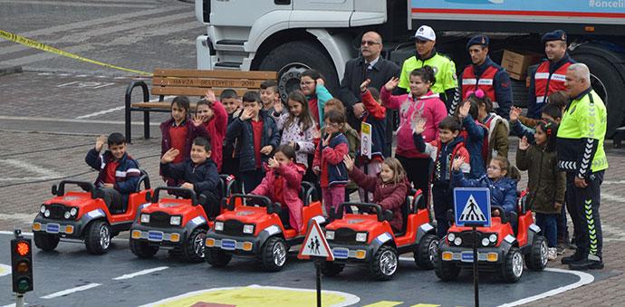 Mobil Trafik Eğitim Tırı, Samsun'da İlk Havza'ya Geldi