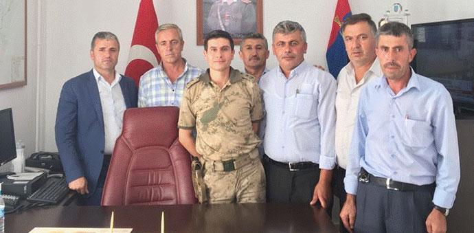 Muhtarlardan Jandarma Komutanına Ziyaret