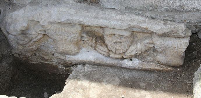 Roma Dönemine Ait Mezar Kapağı Bulundu