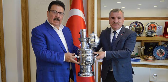 SAMKON Genel Başkanı Aşçı'dan Havza Belediye Başkanı Özdemir'e Ziyaret