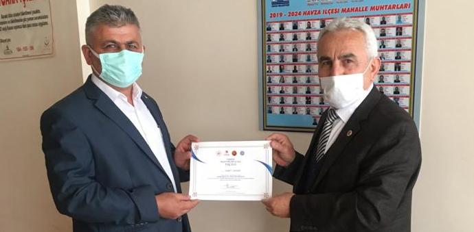 Samsun İli Muhtarlar Dernek Başkanından Çavdar'a Ziyaret