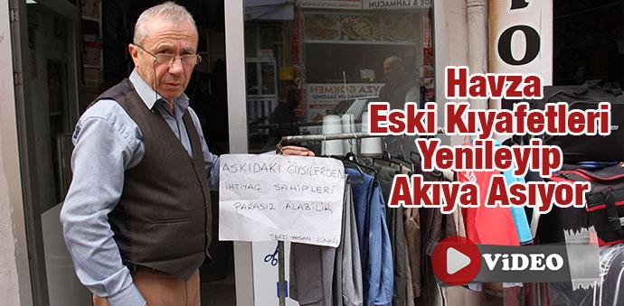 Samsun'da Eski Kıyafetleri Yenileyip Akıya Asıyor - Video Haber