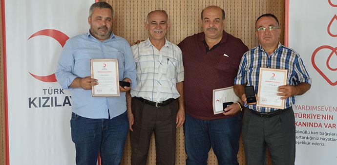 Samsun'da Kızılay, Bağışçılarına Madalya Töreni