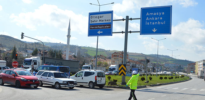 Samsun'un Giriş Kapısı Havza'da Giriş Çıkışlar Kontrol Ediliyor