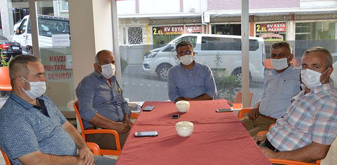 SASKİ İçme Suyu Daire Başkanı Güller'den Havza Muhtarları Derneğine Ziyaret