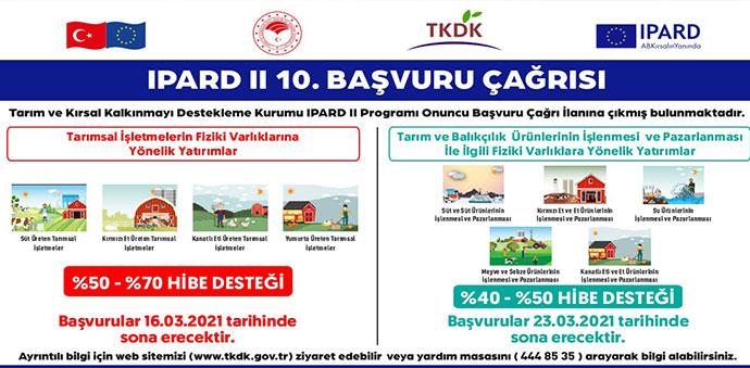TKDK IPARD II 10. Başvuru Çağrı İlanı Yayınlandı