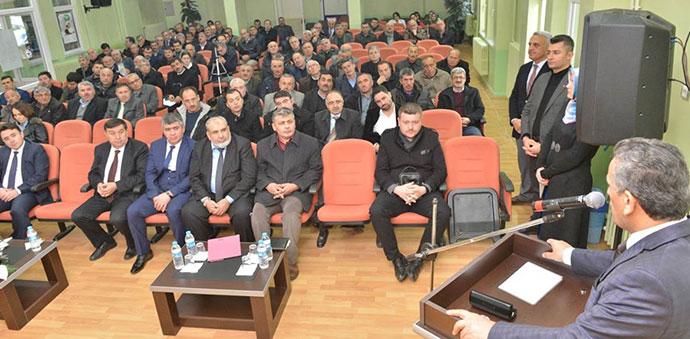 Vali Kaymak Havza'da Muhtarlar Toplantısına Katıldı