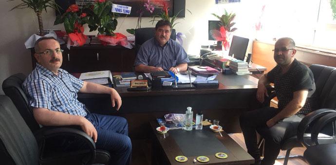 Vezirköprü Milli Eğitim Müdürü Ahmet Demircan'a Hayırlı Olsun Ziyareti.