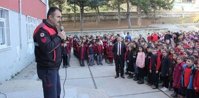 Havza'da İlk Ve Ortaokulda Yangın Tatbikatı