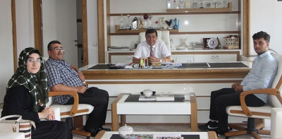 15 Temmuz Gazisinden Başkan İkiz'e Ziyaret