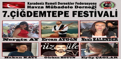 7. Çiğdemtepe Festivali Gerçekleştirilecek