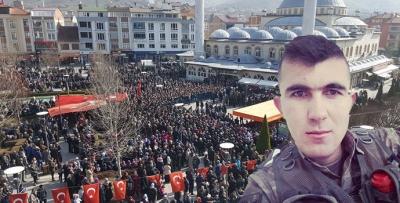 Afrin Şehidi Hüseyin Şahin Son Yolcuğuna Uğurlandı