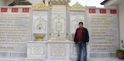 Afrin Şehidinin Vasiyetini Babası Gerçekleştirdi