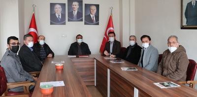 Ak Parti Havza İlçe Başkanı Kadir Kayan MHP'ye Taziye Ziyareti