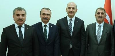 Başkan Özdemir, İki Proje için Bakan Soylu İle Görüştü