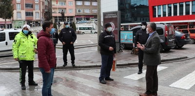 Başkan Özdemir'dan Polislere Ziyaret