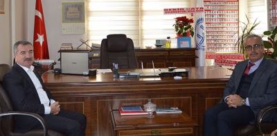 Başkan Özdemir'den Yeni Müftü Mehmet Nurlu'ya Ziyaret