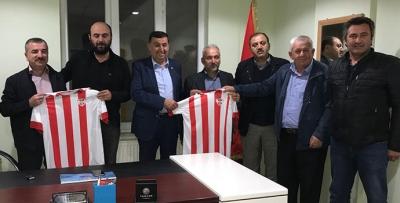 Başkanlardan Havza Belediyespor'a Ziyaret