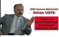 Erhan Usta Havza ve Vezirköprü'nün Sorunlarını Meclise Taşıdı