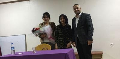 Hakime Elçim Akkaya'dan Kız Öğrencilerine Meslek Eğitimi