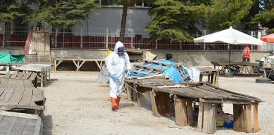 Havza Belediyesi Sebze Pazarını Dezenfekte Etti