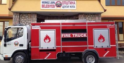 Havza Belediyesine Makedonya'dan İtfaiye Aracı Hibe Edildi