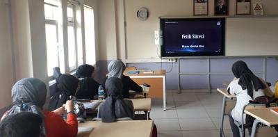 Havza Fen Lisesi Kahraman Ordumuz İçin Fetih Suresi Okuyor