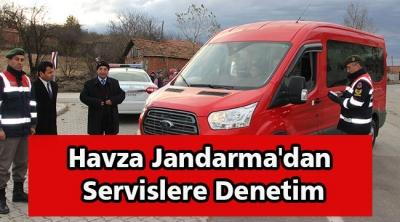Havza Jandarma'dan Servislere Denetim