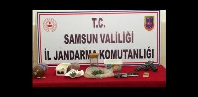 Havza Jandarma'dan Uyuşturucu Operasyonu